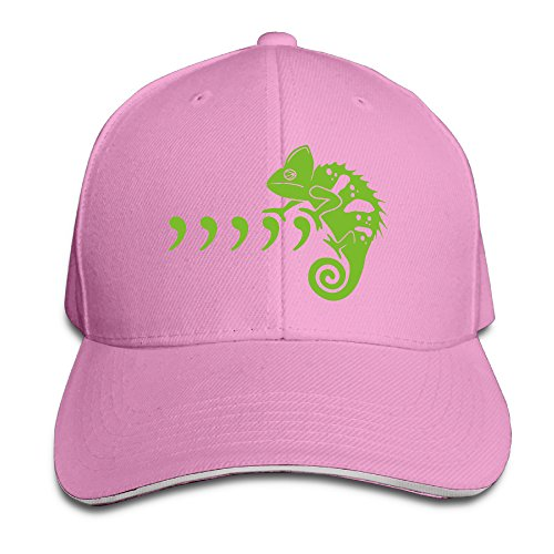 Mens Chameleon Wrap - NF18G Cool Green Chameleon Baseball Cap For Men&Women Pink