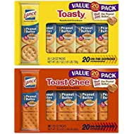 Lance Toasty and Toastchee Assorted Sandwich Crackers, 40 Count