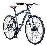 Schwinn Men's World Classic Urban Hybrid 700C Wheel Bicycle, Blue, 17″/Medium