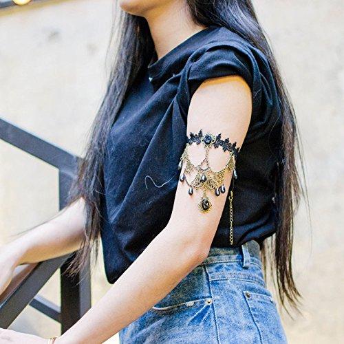 Price comparison product image Figure Oumu black lace arm gem chain bracelet fashion boutique hot new 9623