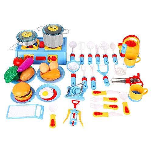 Kitchen Appliances Set: 44 Pieces Mini Stove Kitchen Appliance Pretend Play Food