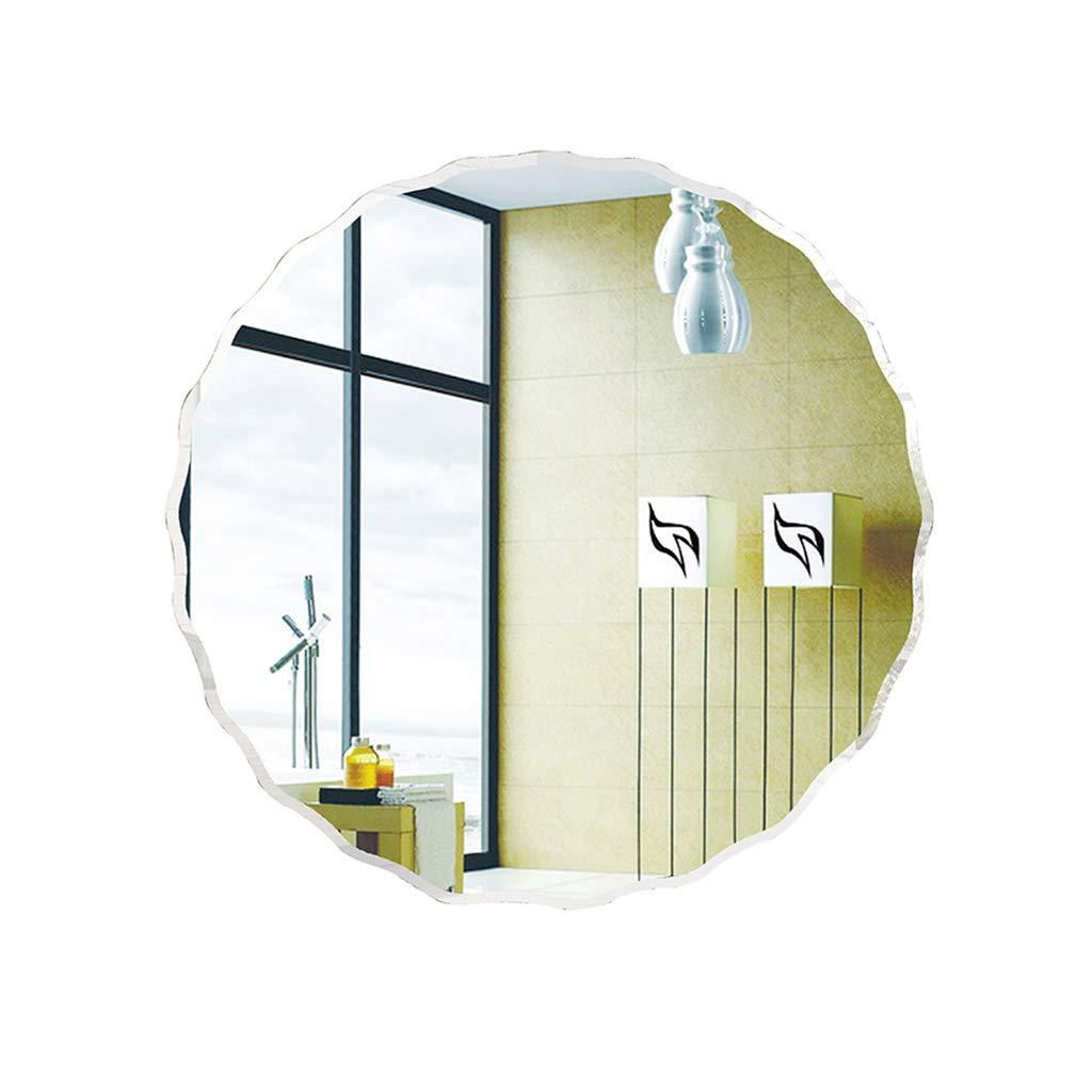 【タイムセール!】 SXLL鏡 (サイズ バニティミラーシンプルなラウンドウェーブバスルームフレームレス壁面バスルームミラー (サイズ 60*60cm さいず : SXLL鏡 60*60cm) 60*60cm B07L2RYPZK, ubazakura:b7ab2364 --- svecha37.ru