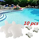 10PCS Oil Absorbing Sponge for Hot Tub and Swimming Pool | Spa Absorb Sludge Dirt and Scum | Reusable Scum Disc Cleaner | Removes Oils & Grease