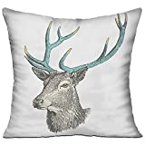 weikaism Watercolor Deer Wildlife Pillow Covers Throw Pillowcase - Best Reviews Guide