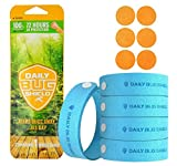 Natural Mosquito Repellent Bracelets Wristband wrist band for Kids Adult Family Bug Insect Protection up to 300 Hours No deet 5 pac