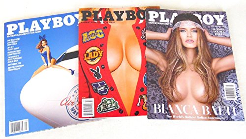 Lot of 3 Playboy Bianca Balti July August Double Back Issues 2014 May October