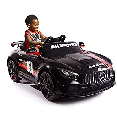 AuAg Kids Mercedes Benz AMG Big Electric Ride On Car Toys with Remote Control 12V Power Battery Power Wheels and 2.4G Radio Parental Control Toddler Drivable Cars 4 Wheels from AuAg