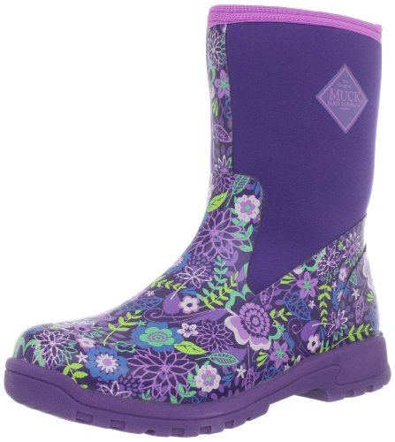 MuckBoots Women's Breezy Mid Prints Boot,Purple/Purple Flower,7 M ...