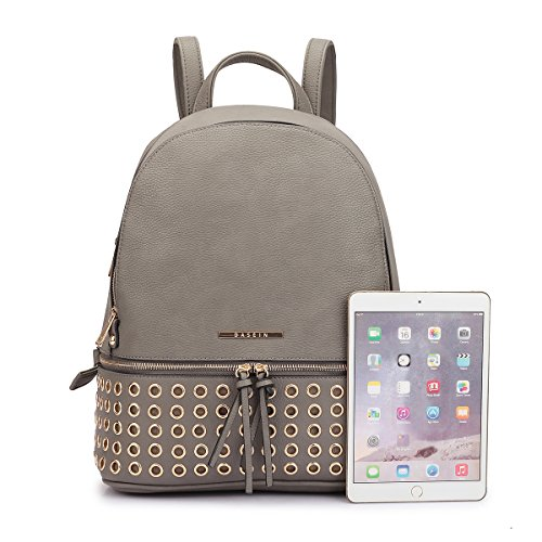 7205 brown 04 Studded Fashion Women MMK collection Backpack xUvnB