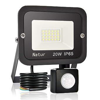 20W Foco LED con Sensor de Movimiento,5000LM Super Brillante 6000K ...