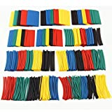 410 PCS Heat Shrink Tubing Shrinkage 2:1 Tube Wrap Sleeving Wire Cable Kits 10 Sizes 5Colors With Plastic Bags