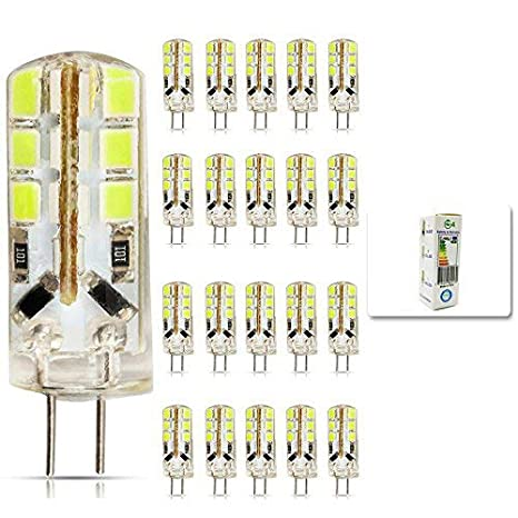 mengjay® 20 X LED G4 2835 SMD 3 W DC 12 V Blanco Frío G4
