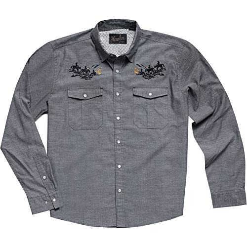 ea65e1c3f78e Howler Brothers Gaucho Snapshirt - Blue Oxford : Howler Posse - Large from  Howler Brothers