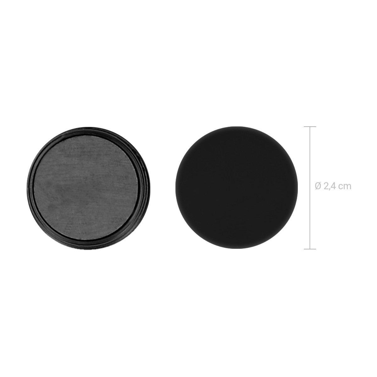 50 Stück starke  HSM Magnete Schwarz Whiteboard Kühlschrank Küchenmagnete 24mm