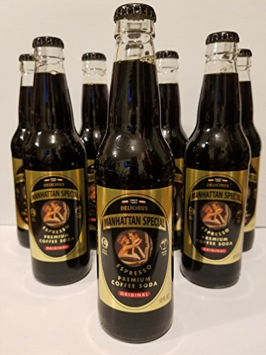 8 Bottles of Manhattan Special Expresso Coffee Sodas - (12oz. Size Bottles) - Priority Shipping - Manhattan Store