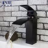 Furesnts Modern home kitchen and Bathroom Sink Taps The waterfall black bronze antique lift-kai Bathroom Sink Taps,(Standard G 1/2 universal hose ports)