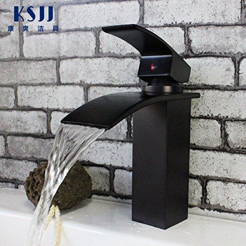 Furesnts Modern home kitchen and Bathroom Sink Taps The waterfall black bronze antique lift-kai Bathroom Sink Taps,(Standard G 1/2 universal hose ports)