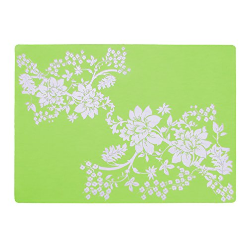 2pc Large Size Silicone Gel Place-mat For Great Dinning Experience, Heat Resistance and Water Proof, Non Slippery, High Level of Insulation for Pots and Pans - Apple Green