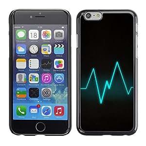 Caucho caso de Shell duro de la cubierta de accesorios de protección BY RAYDREAMMM - iPhone 6 - Blue Beat