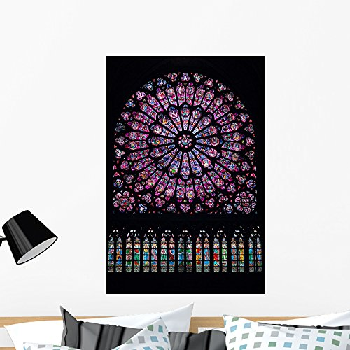 (Wallmonkeys FOT-74805386-36 WM332496 North Rose Window Peel and Stick Wall Decals (36 in H x 24 in W), Large)