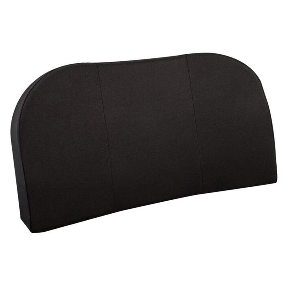 RUIRUIY Car Lumbar Pillow Cushions Support Back Cushion Comfortable and Breathable Four Seasons Available Memory Foam Removable Cleaning, 2 Sizes (Color : Black, Size : 40X22CM)