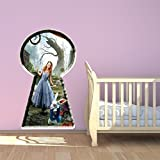 Alice In Wonderland Full Colour Wall Sticker Decal Mural Kids Bedroom  Transfer Print Graphic Part 21