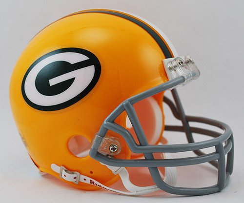 Green Bay Packers 1961-79 Throwback Replica Mini Helmet - Licensed NFL Football Merchandise