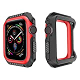 Product review for Lyperkin Compatible with Apple Watch Band 40mm Case, Shock-Proof Protective Case 2-in-1 Soft Silicone Two-Tone Bumper Case Cover Replacement Watch Case Compatible with Apple Watch Series 4