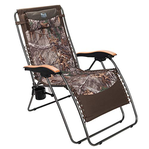 Timber Ridge Zero Gravity Patio Lounge Chair Oversize XL Padded Adjustable Recliner with Headrest Support 350lbs, Camouflage (Plans Chairs Wooden Patio)