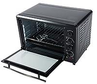 Backofen mit Drehspieß Heißluft Umluft Mini Ofen Pizzaofen 2000 Watt 45L.