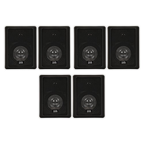 Acoustic Audio 151B Indoor Outdoor 2 Way Speakers 1800 Watt Black 3 Pair Pack 151B-3Pr by Acoustic Audio by Goldwood