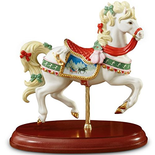 Lenox 2013 Christmas Carousel Horse Jumper Figurine Winter Scene Limited Edition