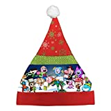 New Couple Cartoon Xmas Day Cap Printed With Christmas Eve Boys Girls Gift Party
