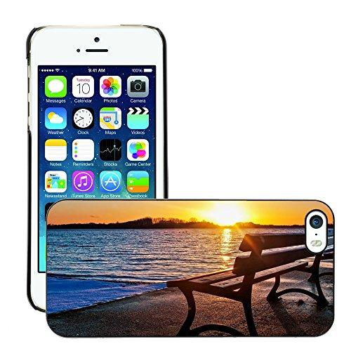 Stampato Modelli Hard plastica Custodie indietro Case Cover pelle protettiva Per // M00421630 Banc lac Sunset // Apple iPhone 5 5S 5G