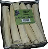 HDP Retriever Rolls Rawhide 9″-10″ Size:Pack of 20 Flavor:Original Review