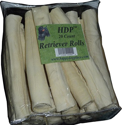 HDP Retriever Rolls Rawhide 9''-10'' Size:Pack of 20 Flavor:Original by HDP