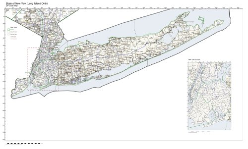 ZIP Code Map State of New York Long Island Only (New York Zip Code Map)