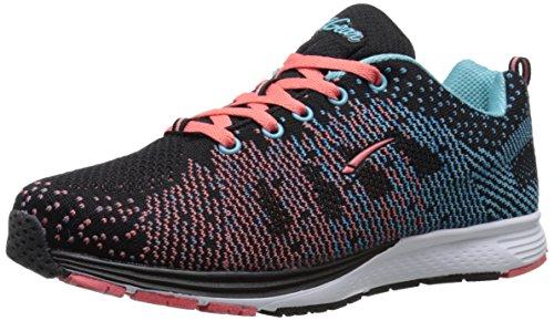 LA Gear Women's Erase Running Shoe - Black/Pink/Blue - 8 ...