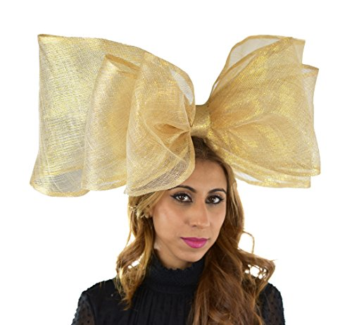 Hats By Cressida Wedding Kentucky Derby Ascot Fascinator Hat Gold Large by Hats By Cressida