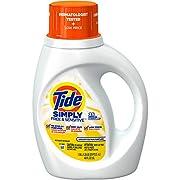 Tide Simply Free & Sensitive, Unscented Laundry Liquid Detergent, Unscented, 25 Loads 40 fl oz.