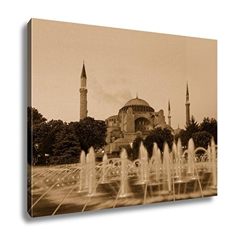 Ashley Canvas Hagia Sophia With Lantern Light, Kitchen Bedroom Living Room Art, Sepia 24x30, AG5915086