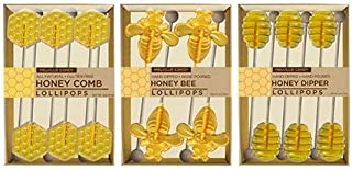 product image for Honey Comb Bee Dipper Hard Candy Lollipop Kosher OU Gift Set Assortment (3 Count)