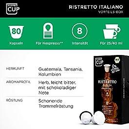 My-CoffeeCup Cápsulas de Café Ristretto Italiano – 8 Cajas de 10 Unidades de Café Orgánico – Compatibles con Máquina…