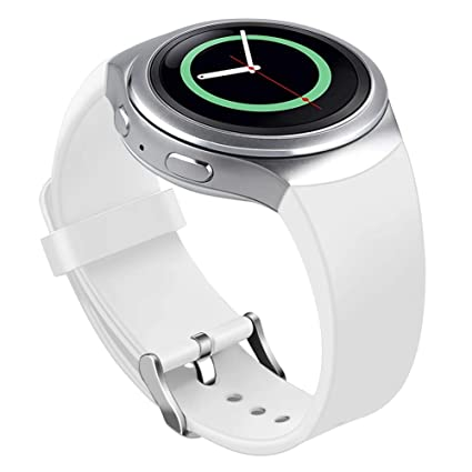 Bands Compatible Samsung Gear S2 Watch, NaHai Soft Silicone Replacement Sport Strap Wristbands Samsung Gear S2 Smart Watch, SM-R720/SM-R730 (White)