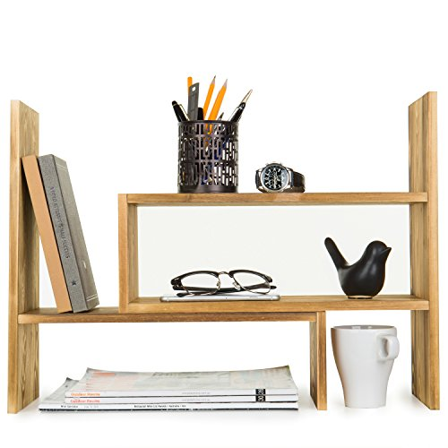 Adjustable Desktop Storage Organizer Bookcase