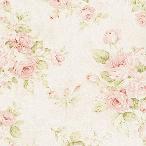 Carousel Designs Pink Floral Fabric By The Yard