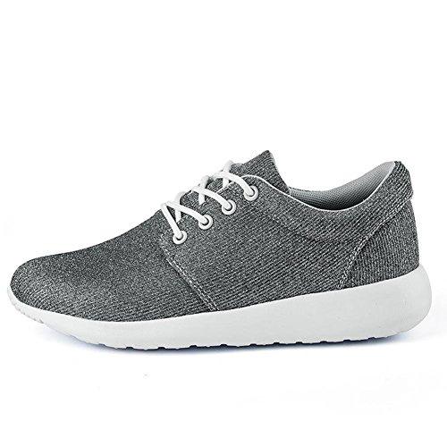 Zapatillas de deporte de un solo color de la manera de las señoras / de las muchachas verano y otoño Zapatos ocasionales de los deportes respirables y ligeros Grey