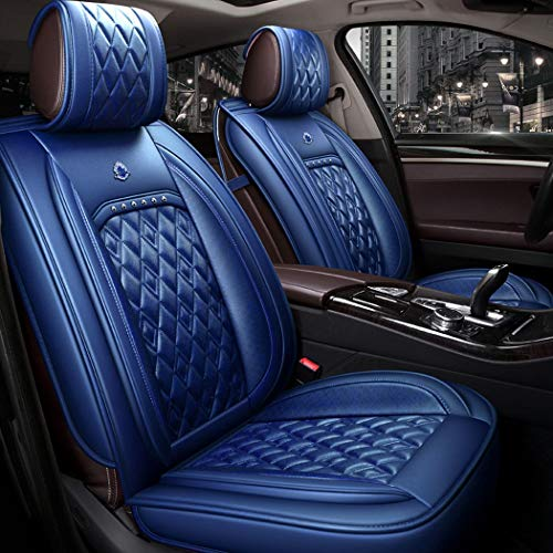 WL Easy To Clean PU Leather Car Seat Cushion 5 Seats Full Slip Non-Slip Suede Backing Universal Suitable,C: Sports & Outdoors