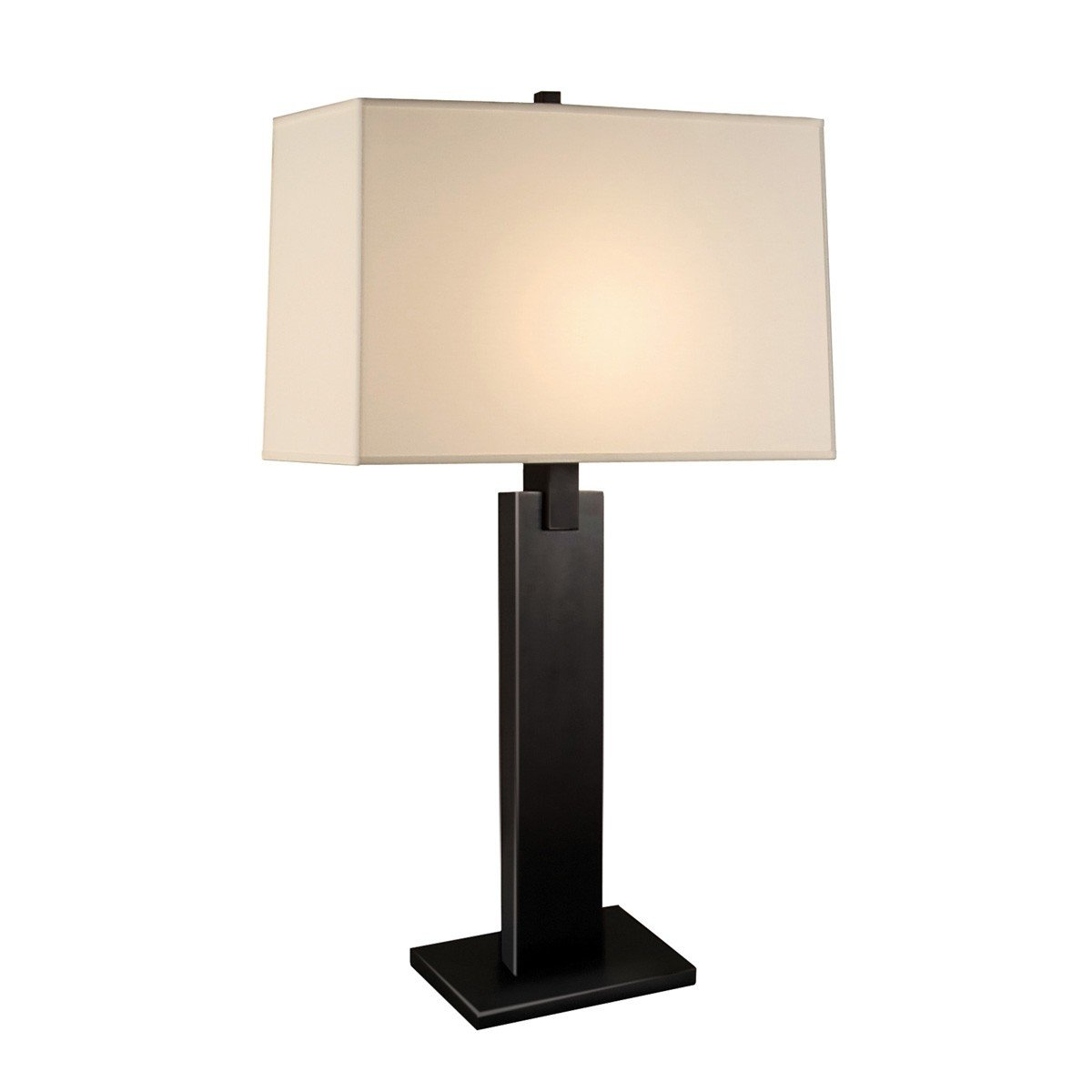 Sonneman 3305.51, Monolith Tall 3 Way Table Lamp, 1 Light, 18 Total Watts, Black Brass