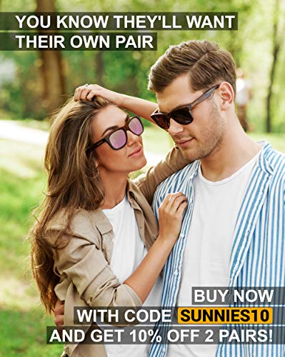 Wood Sunglasses Polarized for Men and Women by CLOUDFIELD - Wooden Wayfarer Style - 100% UV Protection - Premium Build Quality - Bamboo Wooden Frame - Perfect Gift by cloudfield (Image #7)